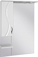 Шкаф с зеркалом для ванной Ювента Briz БШН32-65 (белый, левый) -