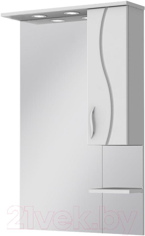 Шкаф с зеркалом для ванной Ювента, Briz БШН32-65 (белый, правый), Украина  - купить со скидкой
