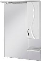 Шкаф с зеркалом для ванной Ювента Briz БШН32-75 (белый, правый) -