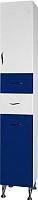 Шкаф-пенал для ванной Ювента Briz БШП2к (синий) -