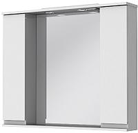 Шкаф с зеркалом для ванной Ювента Monika МШН33-87 (белый) -