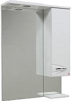 Шкаф с зеркалом для ванной Ювента Рио ШНЗ2-60 (правый) -