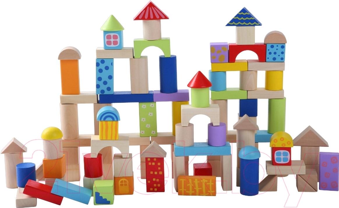 Купить Развивающая игрушка Eco Toys, 100 кубиков 2007, Китай, дерево