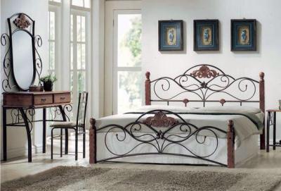 Полуторная кровать Королевство сна FD-881 120x200 (античный дуб) - в интерьере
