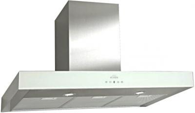Вытяжка Т-образная Elikor Агат 60 (нержавеющая сталь/белый) - общий вид