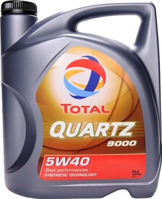 Моторное масло Total Quartz 9000 5W40 / 148650 (5л)