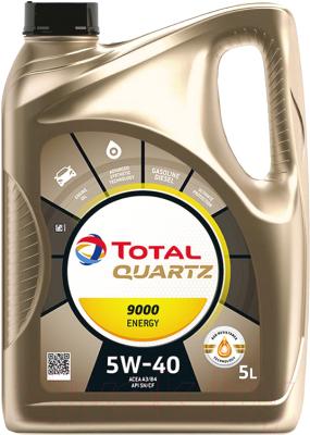 Моторное масло Total Quartz Energy 9000 5W40 / 156812 / 213697 (5л)