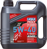 Моторное масло Liqui Moly Motorbike 4T Synth Street Race 5W40 / 1685 (4л) -