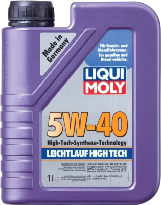 Моторное масло Liqui Moly Leichtlauf High Tech 5W40 / 2327 (1л)