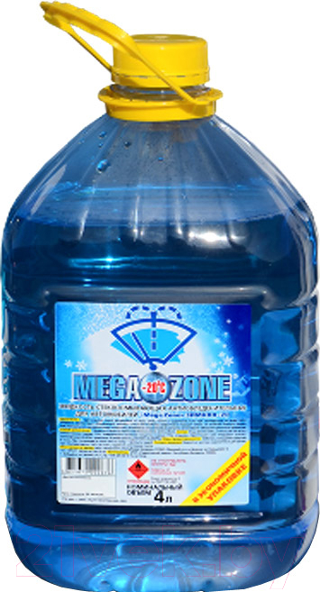 Купить Жидкость стеклоомывающая MegaZone, Эконом Зима -20 / 9000011 (4л), Беларусь, зима