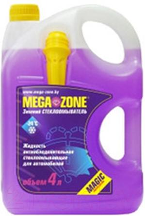 Купить Жидкость стеклоомывающая MegaZone, Magic Зима -24 / 9000006 (4л, фиолетовый), Литва, зима