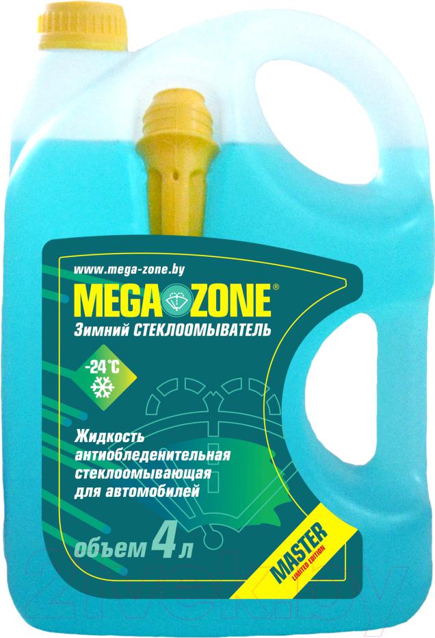 Купить Жидкость стеклоомывающая MegaZone, Master Зима -24 / 9000008 (4л, бирюзовый), Литва, зима
