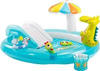 Водный игровой центр Intex Крокодил с горкой 57129NP (203x173) -