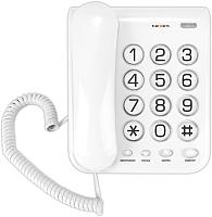 Проводной телефон Texet TX-262 (светло-серый) -