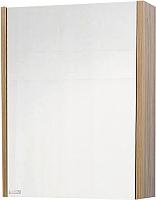 Шкаф с зеркалом для ванной Sanflor Ларго 70 / Lr.02.70 (вяз швейцарский/белый) -