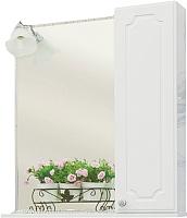 Шкаф с зеркалом для ванной Sanflor Ксения 60 R / Ksn.02.60 -