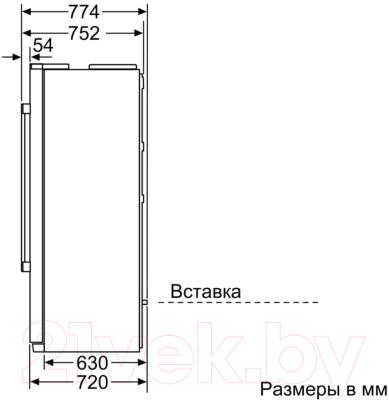 Холодильник с морозильником Siemens KA90IVI20R