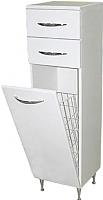 Шкаф-полупенал для ванной СанитаМебель Камелия-42к Д2 (белый) -