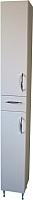 Шкаф-пенал для ванной СанитаМебель Камелия-52 Д2 (белый, левый) -