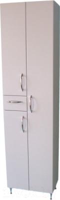 Шкаф-пенал для ванной СанитаМебель Камелия-55 Д2 (белый)