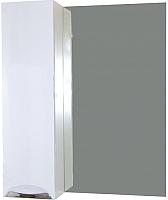 Шкаф с зеркалом для ванной СанитаМебель Камелия-08 Д3 (левый, белый) -