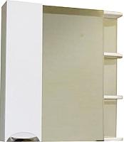 Шкаф с зеркалом для ванной СанитаМебель Камелия-12.70 Д3 (левый, белый) -
