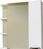 Шкаф с зеркалом для ванной СанитаМебель Камелия-12.70 Д3 (правый, белый) -