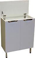 Тумба для ванной СанитаМебель Камелия-74.2 Д3 (белый) -