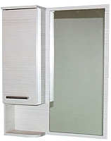 Шкаф с зеркалом для ванной СанитаМебель Прованс 101.600 (левый, гасиенда) -