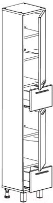 Шкаф-пенал для ванной СанитаМебель Прованс 501.300 (правый, гасиенда)