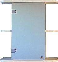 Шкаф с зеркалом для ванной СанитаМебель Камелия-03.50 (левый, белый) -