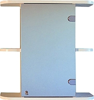 Шкаф с зеркалом для ванной СанитаМебель Камелия-03.60 (правый, белый) -