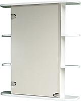 Шкаф с зеркалом для ванной СанитаМебель Камелия-04.65 (левый, белый) -