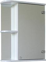 Шкаф с зеркалом для ванной СанитаМебель Камелия-09.45 (правый, белый) -
