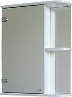 Шкаф с зеркалом для ванной СанитаМебель Камелия-09.50 (левый, белый) -