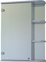 Шкаф с зеркалом для ванной СанитаМебель Камелия-09.55 (левый, белый) -