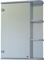Шкаф с зеркалом для ванной СанитаМебель Камелия-09.60 (левый, белый) -