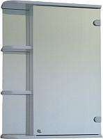 Шкаф с зеркалом для ванной СанитаМебель Камелия-09.60 (правый, белый) -