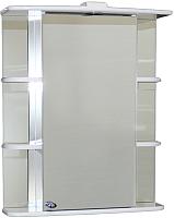 Шкаф с зеркалом для ванной СанитаМебель Камелия-10.65 Д2 (правый, белый) -