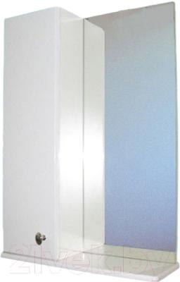 Шкаф с зеркалом для ванной СанитаМебель Камелия-11.50 Д2 (левый, белый)