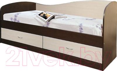 мебель класс лагуна 2 венгедуб шамони односпальная кровать