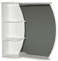 Шкаф с зеркалом для ванной СанитаМебель Камелия-17 (белый) -
