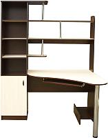 Компьютерный стол Мебель-Класс Соната (левый, венге/дуб шамони) -