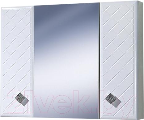 Купить Шкаф с зеркалом для ванной Акваль, Зара 85 / EZ.04.85.00.N, Беларусь