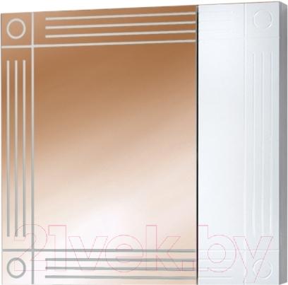 Купить Шкаф с зеркалом для ванной Акваль, Оливия 70 / EO.04.70.00.N, Беларусь