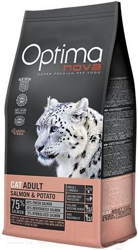 Купить Корм для кошек Optimanova, Cat Adult Salmon & Potato (8кг), Испания