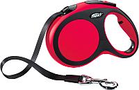 Поводок-рулетка Flexi New Comfort L 8m (ремень красный) -