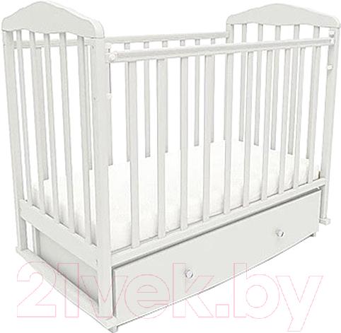 Купить Детская кроватка СКВ, 123001 (белый), Россия, массив дерева