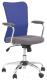 Кресло офисное Halmar Andy (серый/синий) -