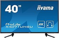 Информационная панель Iiyama ProLite X4071UHSU-B1 (черный) -